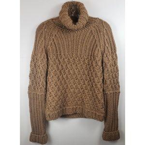 Zara brown knit turtle neck sweater